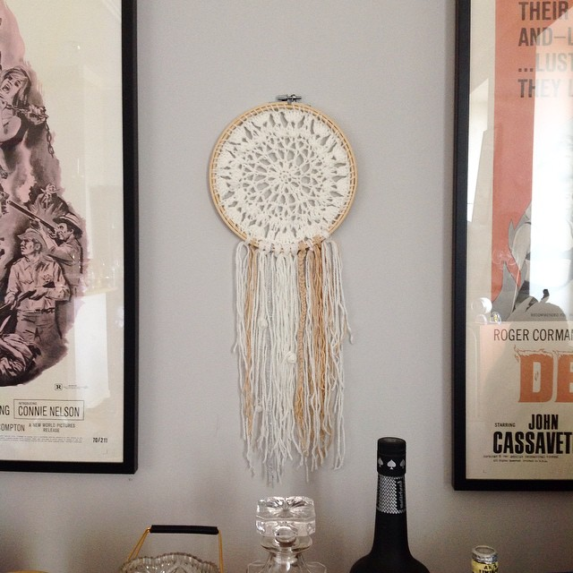Série dreamcatcher ? ?n*1 #dreamcatcher #handmade #crochet #indian #coquillages #faitmain #travaildechinois #wool